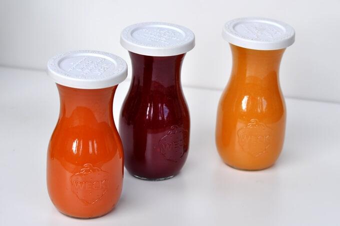 słoiki i butelki Weck do soków i zielonych koktajli