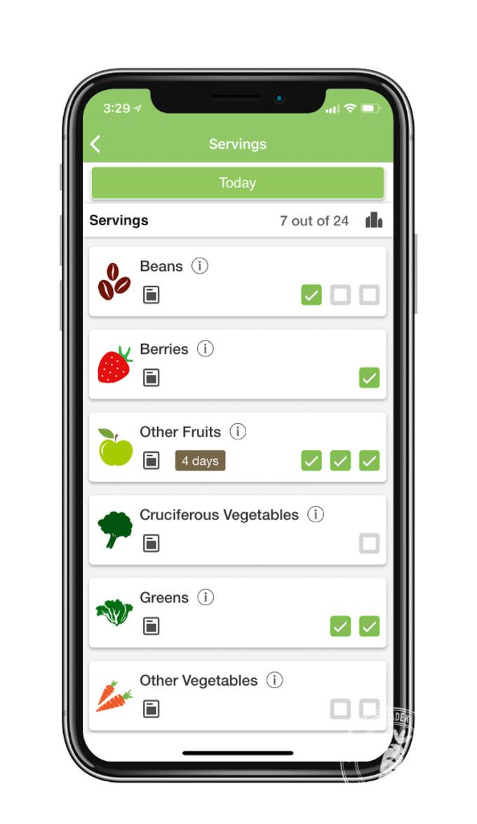 Aplikacja Daily Dozen to gra w zdrowe odżywianie, która pokazuje jak powinno wyglądać zdrowe jedzenie na co dzień