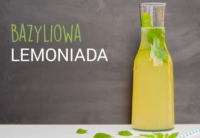 domowa lemoniada z bazylią