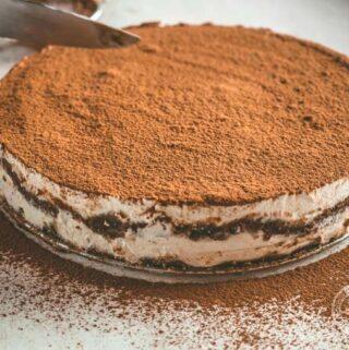 przepis na deser tiramisu bez cukru i nabiału