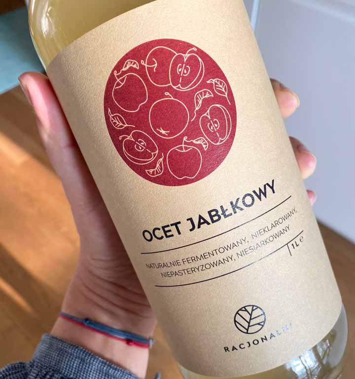 Naturalnie fermentowany, niepasteryzowany i nieklarowany ocet z polskich jabłek