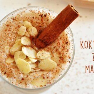 milk shake z maca czyli lodowe smoothie o smaku mrożonej kawy 100% naturalne i zdrowe, bez cukru i mleka krowiego