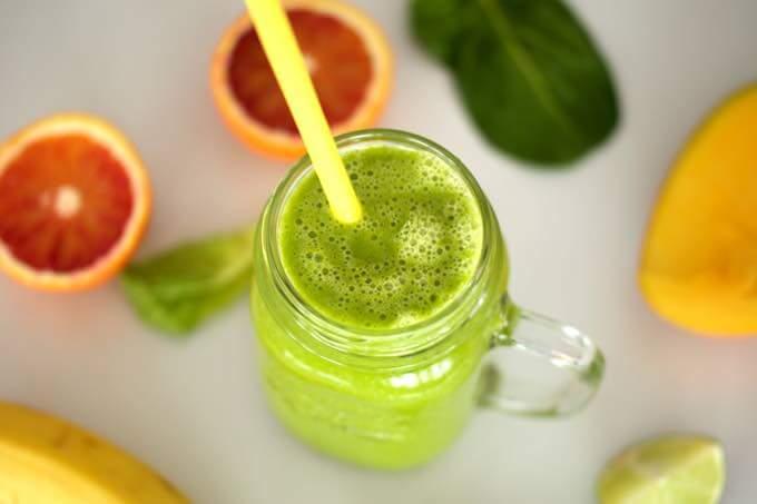 słodki zielony koktajl dla najmłodszych