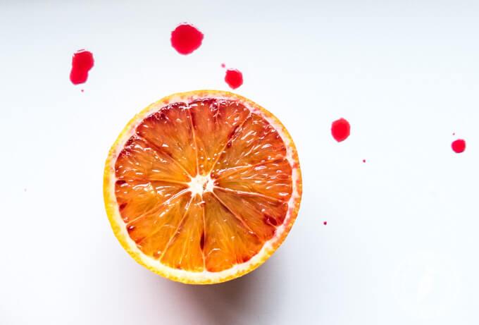 pomarańcze o wyższej zawartości antocyjan