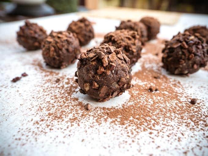 orzechowo-czekoladowa przekąska