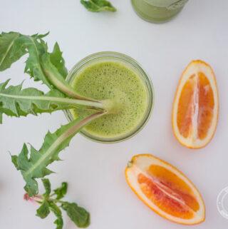 mniszek lekarski to idealny składnik zielonych koktajli i świeżo wyciskanych soków