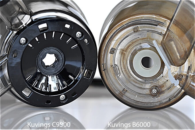 misa na sok zawiera mniej elementów dzięki czemu mycie C9500 jest łatwiejsze