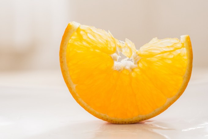 pomarańcza w zielonym koktajlu