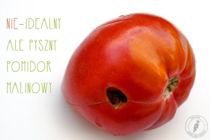 pomidor malinowy w kropki? Nie ma doskonale wyglądających warzyw. Natura jest zróżnicowana