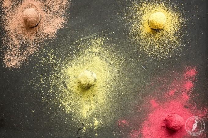 przepis na kolorowe czekoladki naturalne i zdrowe