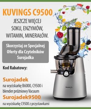 Wyciskarka Wolnoobrotowa Kuvings C9500 i blender Vacuum SV-500 w promocyjnej cenie. Rabat na wyciskarki i blendery Kuvings