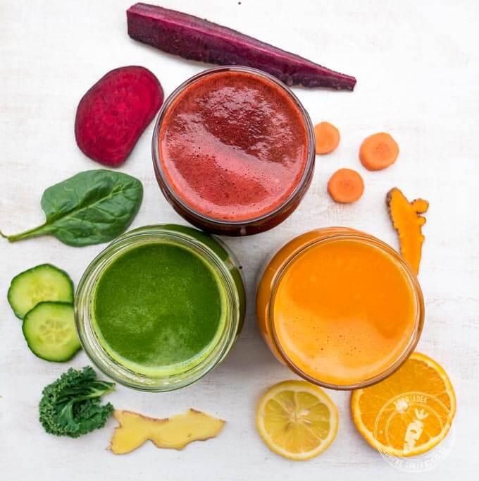 Przepis na świeżo wyciskane soki oczyszczające organizm, wzmacniające odporność i dodające energii