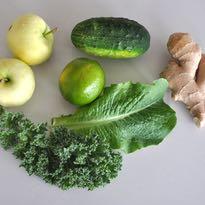 zielony sok z imbirem lista składników