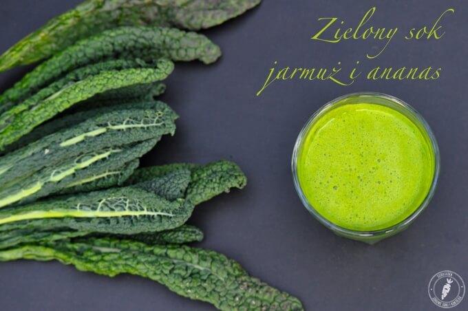 zielony sok z jarmużu