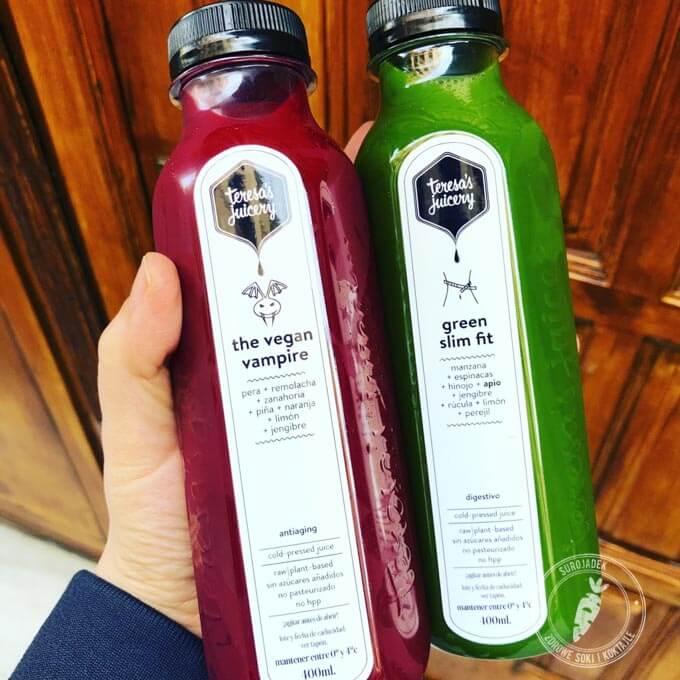 Vegan Vampire i Slim Fit - świeże soki prosto z Barcelony