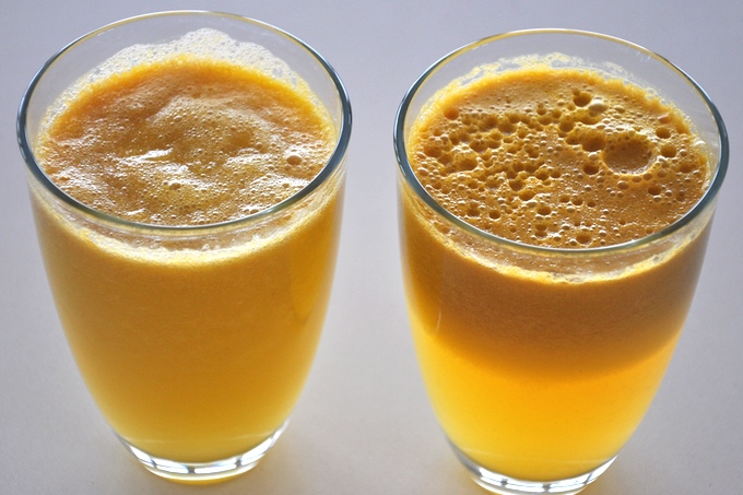 Czym różni się sok z wyciskarki wolnoobrotowej od soku z sokowirówki? Sok z wyciskarki nie rozwarstwia się taj jak w przypadku soku z sokowirówki. Sok z wyciskarki wolnoobrotowej zawiera większą ilość enzymów od soku z sokowirówki i może być dłużej przechowywany