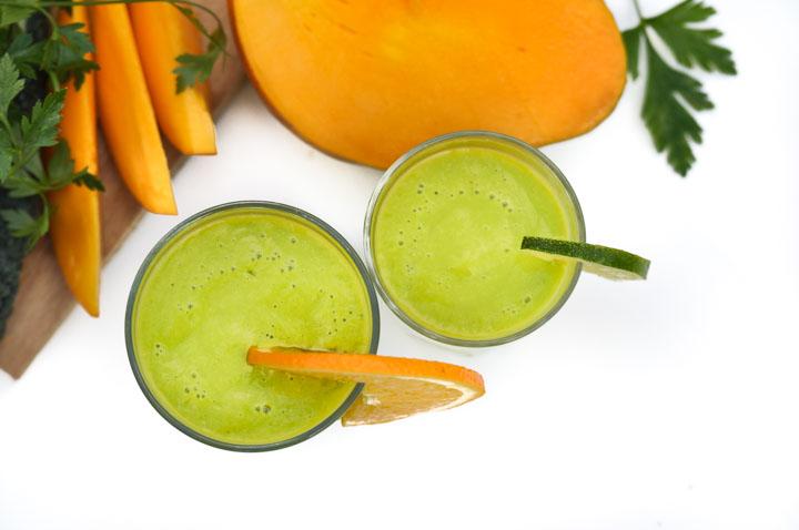jak zrobić zielony koktajl który smakuje jak deser owocowy?