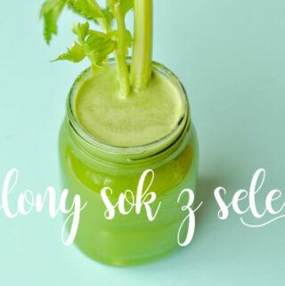 super zdrowy zielony sok z selerem, ogórkiem, imbirem i jabłkiem