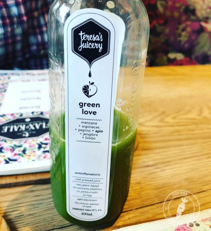 Zielony sok Green Love ze szpinakiem, imbirem i cytryną